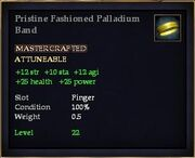 Pristine Fashioned Palladium Band