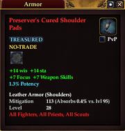 Preserver's Cured Shoulder Pads