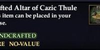 Crafted Altar of Cazic Thule