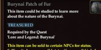 Burynai Patch of Fur