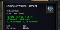 Earring of Wicked Torment