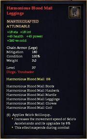 Harmonious Blood Mail Leggings