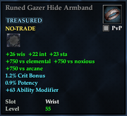 Runed Gazer Hide Armband