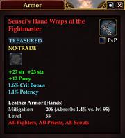 Sensei's Hand Wraps of the Fightmaster