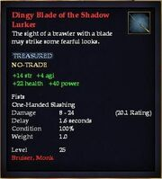 Dingy Blade of the Shadow Lurker