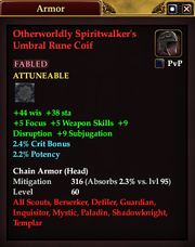 Otherworldly Spiritwalker's Umbral Rune Coif