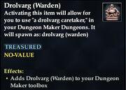 Drolvarg (Warden)