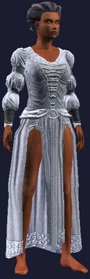 White formal outfit (Visible, Female)