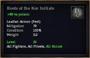 Boots of the Kor Initiate