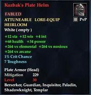 Kuzbak's Plate Helm