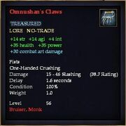 Omnushan's Claws