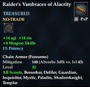 Raider's Vambraces of Alacrity