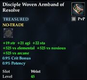 Disciple Woven Armband of Resolve