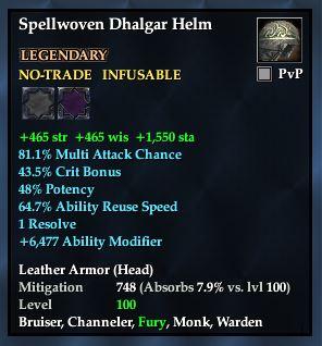 Spellwoven Dhalgar Helm