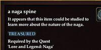 A naga spine
