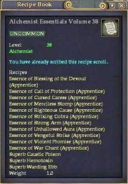 Alchemist Essentials Volume 38