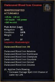 Darkruned Blood Iron Greaves