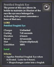 Petrified Froglok Eye