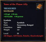 Tome of the Planar Ally