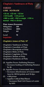 Chaplain's Vambraces of Piety