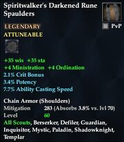 Spiritwalker's Darkened Rune Spaulders