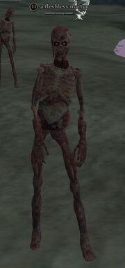 A fleshless martyr