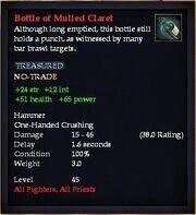 Bottle of Mulled Claret