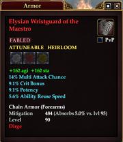 Elysian Wristguard of the Maestro