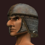 Iron Chainmail Coif (Equipped)