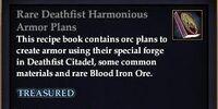 Rare Deathfist Harmonious Armor Plans
