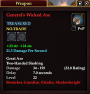 General's Wicked Axe