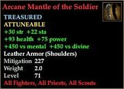 Arcane Mantle of the Soldier