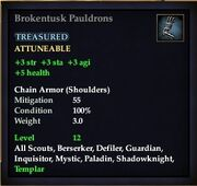 Brokentusk Pauldrons