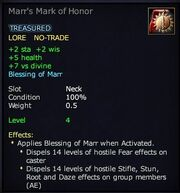 Marr's Mark of Honor