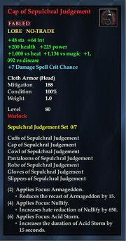 Cap of Sepulchral Judgement