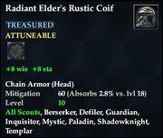 Radiant Elder's Rustic Coif