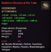 Rezhirz's Bracers of the Task