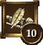 Achievement Icon quill pen 10