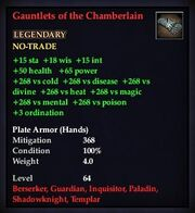 Gauntlets of the Chamberlain