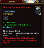 Oracle's Hauberk of Acumen