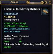 Bracers of the Stirring Reflexes