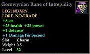 Gorowynian Rune of Intrepidity