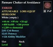 Parmare Choker of Avoidance