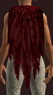 Ruddy Terrorwing Feather Cloak (Equipped)