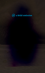 A fetid emission