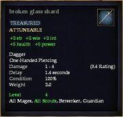 Broken glass shard
