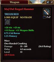 Maj'Dul Forged Hammer