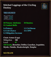 Stitched Leggings of the Circling Destiny