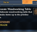 Elaborate Woodworking Table