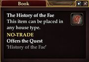 The History of the Fae (Quest Starter)